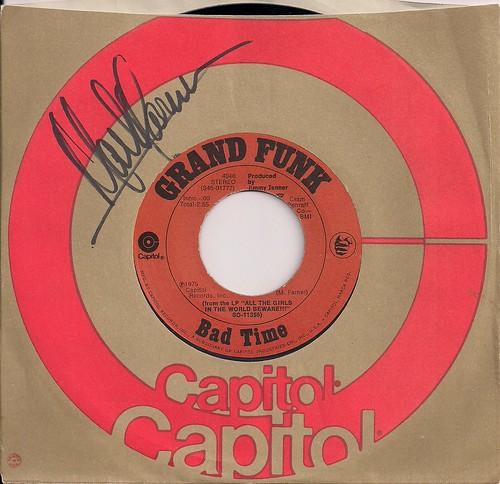 "12/28/02 BTO/Head East/Mark Farner @ St. Paul, MN (Grand Funk 7"" Single Autographed by Mark Farner)"