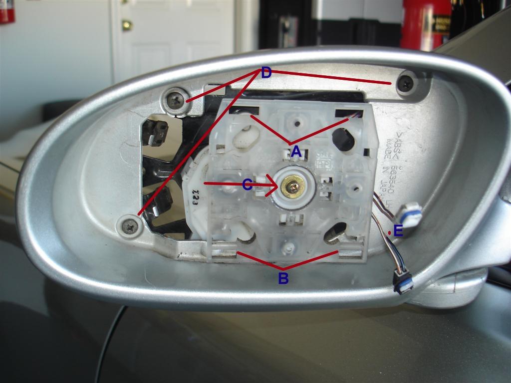 Anatomy of a side mirror clublexus lexus forum discussion for Power mirror motor repair