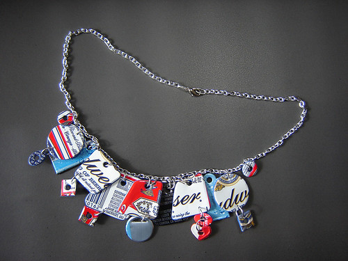 """Bing Necklace 2"" made of Recycled Aluminum Cans ~ 1 of 2 photos"