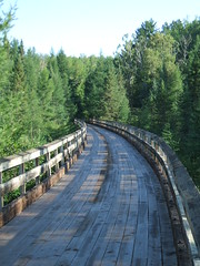 Trestle on Bearskin Creek Trail