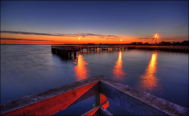 Jones beach pier at dawn flickr photo sharing for Jones beach fishing pier