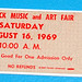 Ticket to Woodstock 1969.