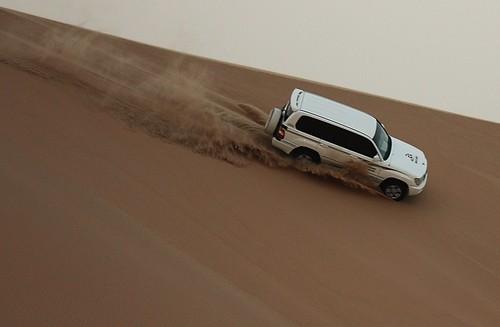 Dune bashing, Abu Dhabi, UAE.