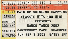 09/08/02 WLOL Wango Tango /W/ Grand Funk Railroad/Night Ranger/Steppenwolf/Starship @ Shakopee, MN (Ticket)