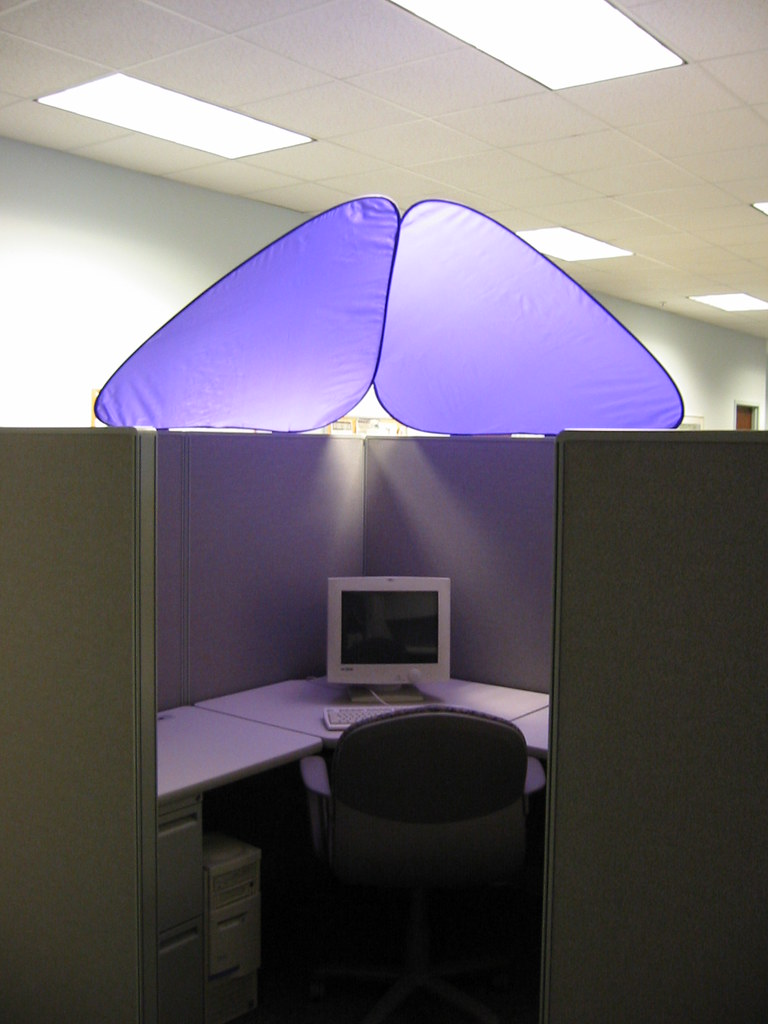 cubeshield cubicle roof flickr photo sharing