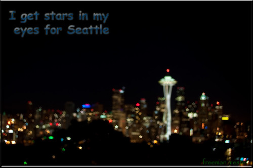 I get stars in my eyes for Seattle
