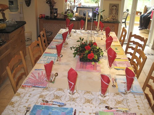 Table settings - Christmas table setting - Christmas Placemats by Colouricious