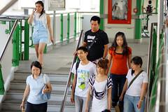 Leaving Asok BTS Skytrain station