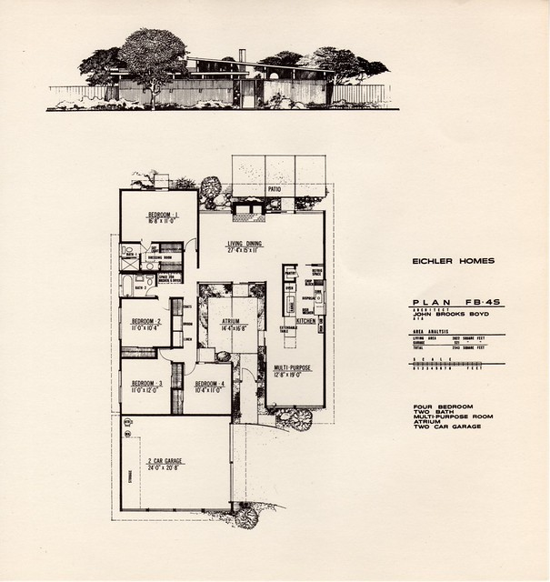 Eichler plans a gallery on flickr Eichler atrium floor plan