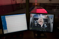 Sir Richard Branson during his centrifuge training at NASTAR. Credit Mark Greenberg