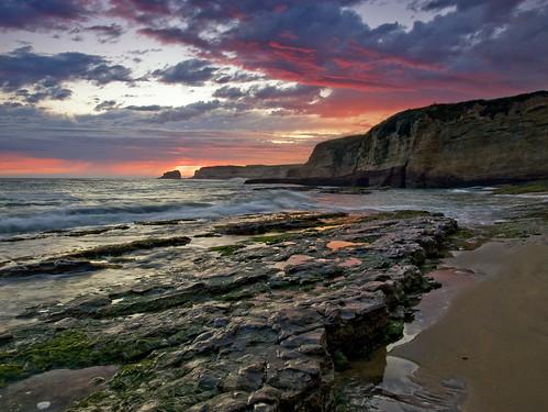 california sunset storm beach rock sand surf cliffs davenport lagunabeach zuiko1442 olympuse410 shanevenem