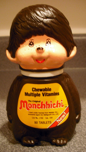 1981 Mattel Monchhichi Chewable Multiple Vitamins
