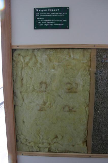 Fiberglass insulation the goodson house a living green for Compressed fiberglass insulation