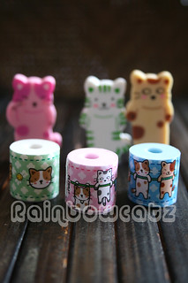 Kitty Cats Toilet Paper Eraser Set of 6