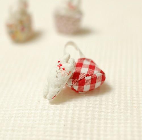 Tiny rabbit in bag