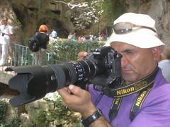 Long lens photographer at Düden Waterfall
