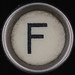 typewriter key letter F