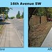 16th Ave SW - before and after
