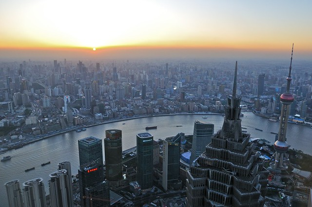 Shanghai sunset from SWFC