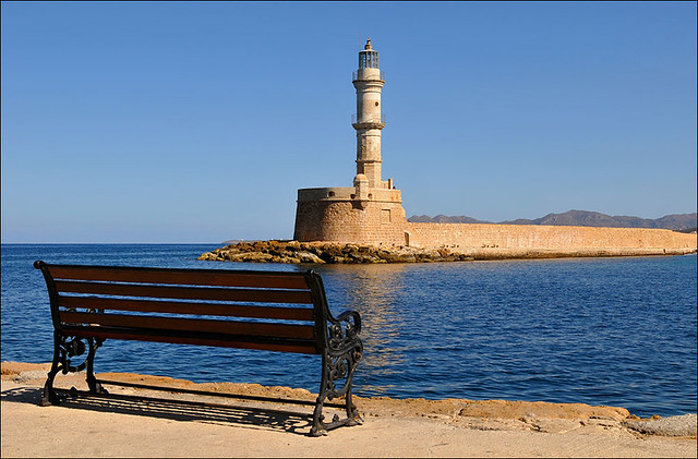 The lighthouse of Chania, Crete - Flickr CC romtomtom