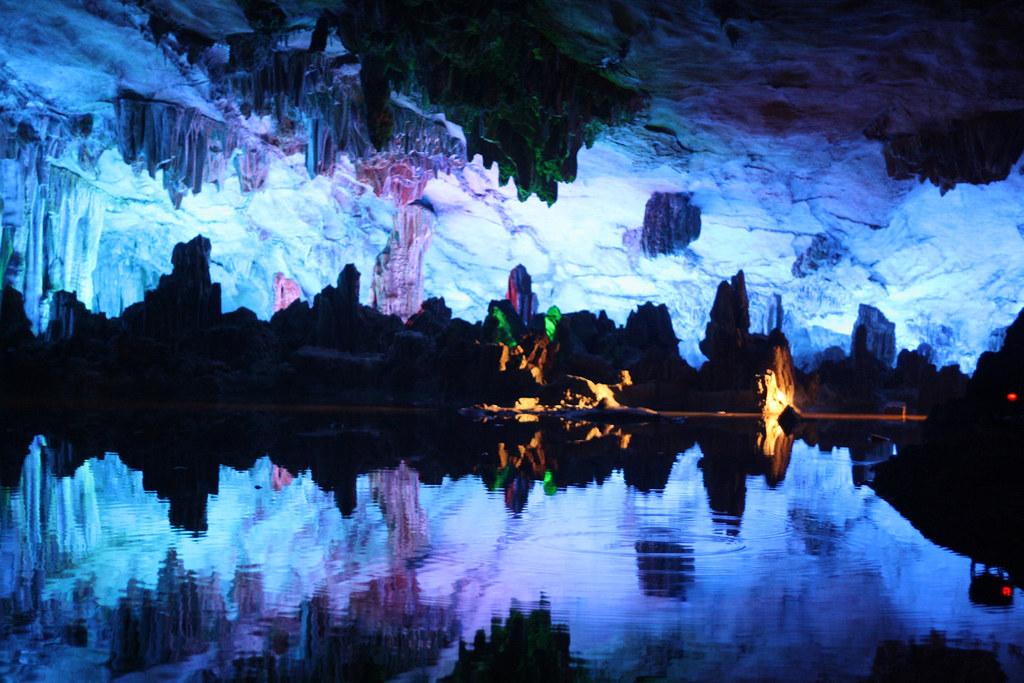 Reed Flute Cave water - 50 de los lugares más bellos de Asia
