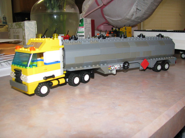 Lego Tractor Trailer : Lego tractor trailer flickr photo sharing