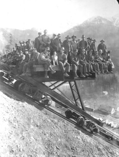 Workers at Diablo Dam, 1928