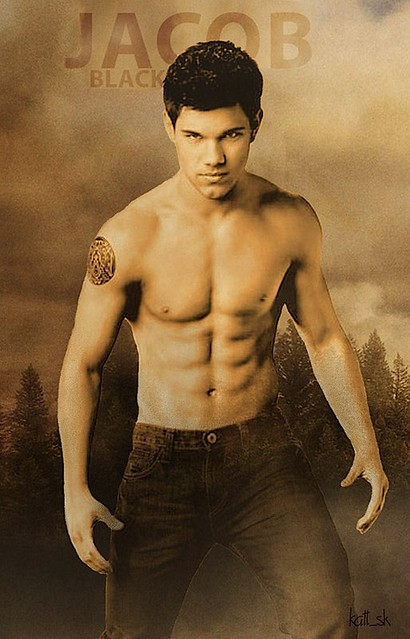 New Moon Jacob Black Shirtless Fan Poster | Flickr - Photo ...