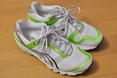 cross training shoe, tennis shoe, outdoor shoe, running shoe, sneakers, footwear, yellow, white, shoe, green, athletic shoe,