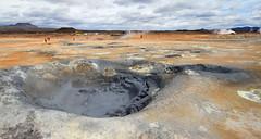volcanic crater, geyser, geology, landscape, wilderness, badlands,