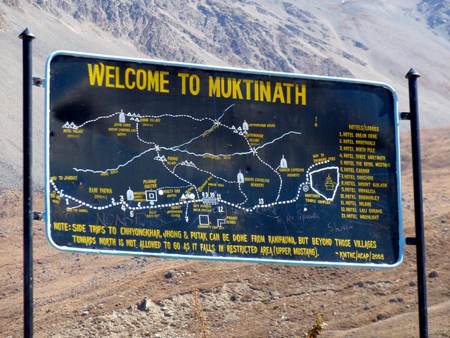 Arriving at Muktinath
