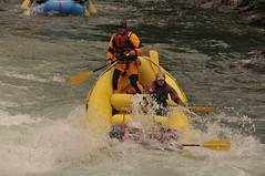 whitewater kayaking(0.0), canoeing(0.0), vehicle(1.0), sports(1.0), rapid(1.0), recreation(1.0), outdoor recreation(1.0), boating(1.0), extreme sport(1.0), water sport(1.0), boat(1.0), raft(1.0), rafting(1.0),