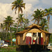 Houseboat and Palms: Alleppey, India