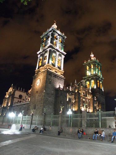"""P9230114 Recorrido Nocturno Centro Histórico de Puebla """"Catedral"""" por LAE Manuel Vela"""