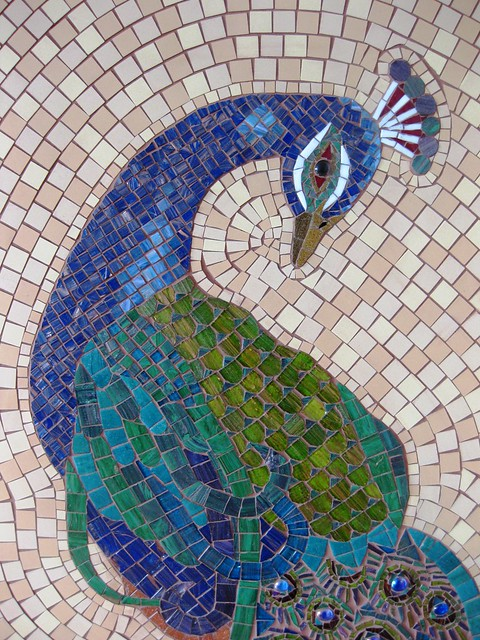Peacock finished detail flickr photo sharing for How to draw mosaic patterns