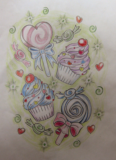 candy tattoo flash by cl udia f