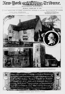 Sulgrave Manor, home of George Washington's ancestors in England, may be brought to America (LOC)