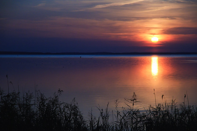 Sunset at the Müritz, Germany