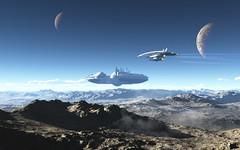 Станция на планете
