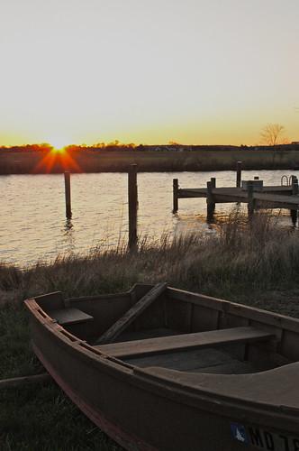 moon grass sunrise boat dock chesapeakebay churchcreek maryand rudderow