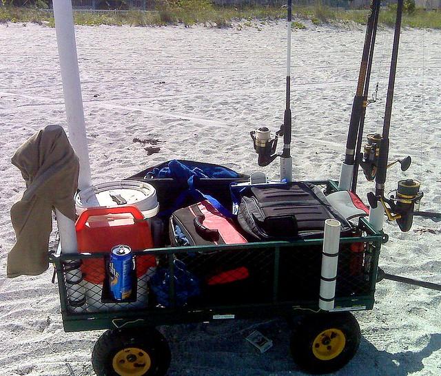 My beach fishing cart flickr photo sharing for Beach fishing carts