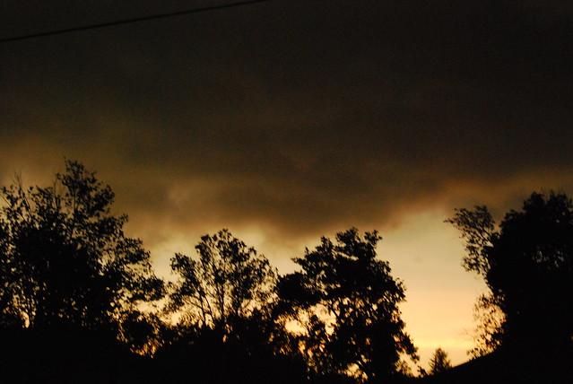 Thunderstorm darkness