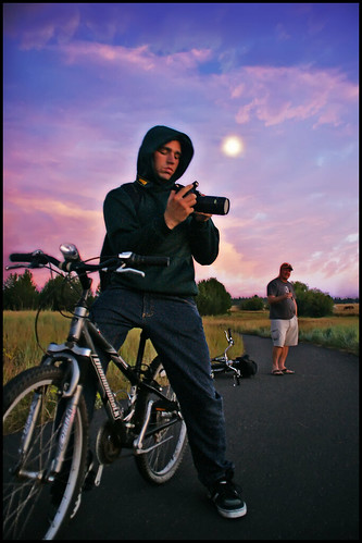 pictures blue sunset red sky orange moon mountains bike clouds oregon rising evening picture trail