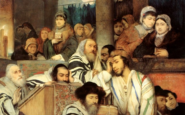 Gottlieb - Jews Praying in the Synagogue on Yom Kippur