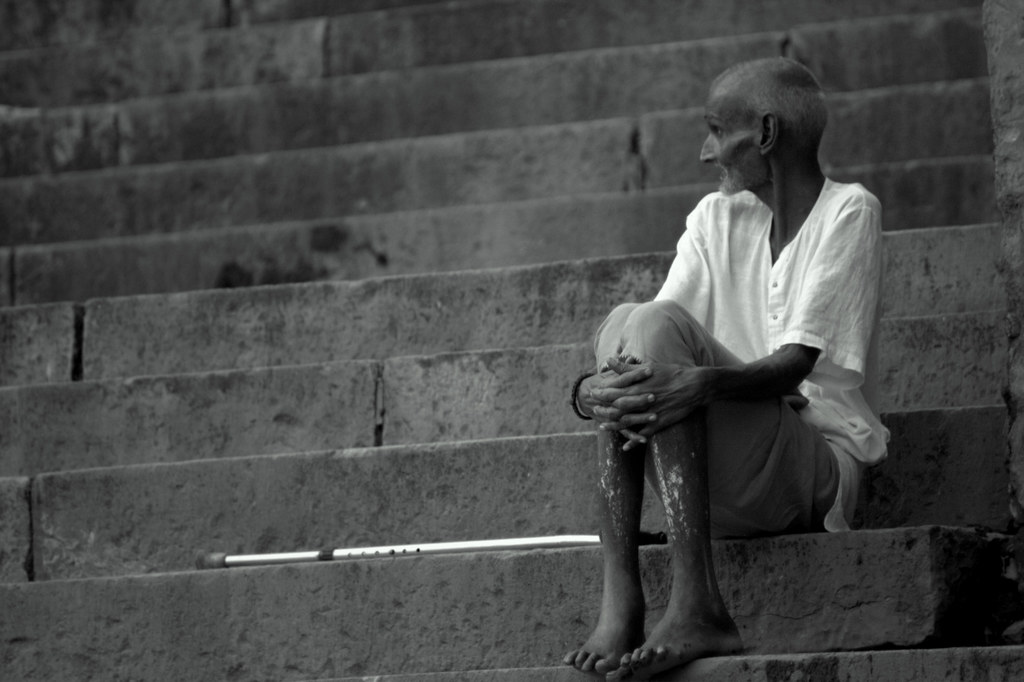 An Old Man At The Varanasi Ghats