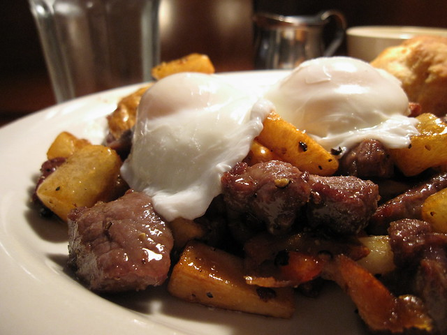 Steak Hash | seared fillet and new york, russet potatoes, sa ...