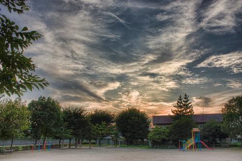 sunset sky japan clouds 日本 aichi okazaki hdr 中部 tokai chubu 東海 愛知県 photomatix mikawa 岡崎市 三河 canon450d topazadjust