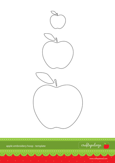 Apple Embroidery Hoop Template  Flickr  Photo Sharing