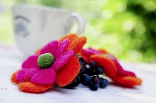 felted flowers#1