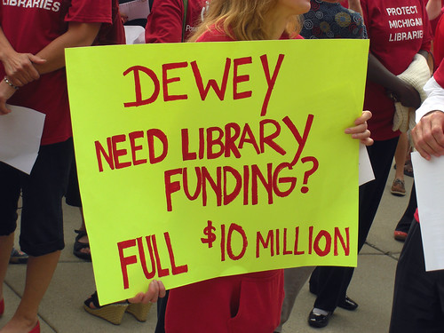 Save Michigan Libraries Rally